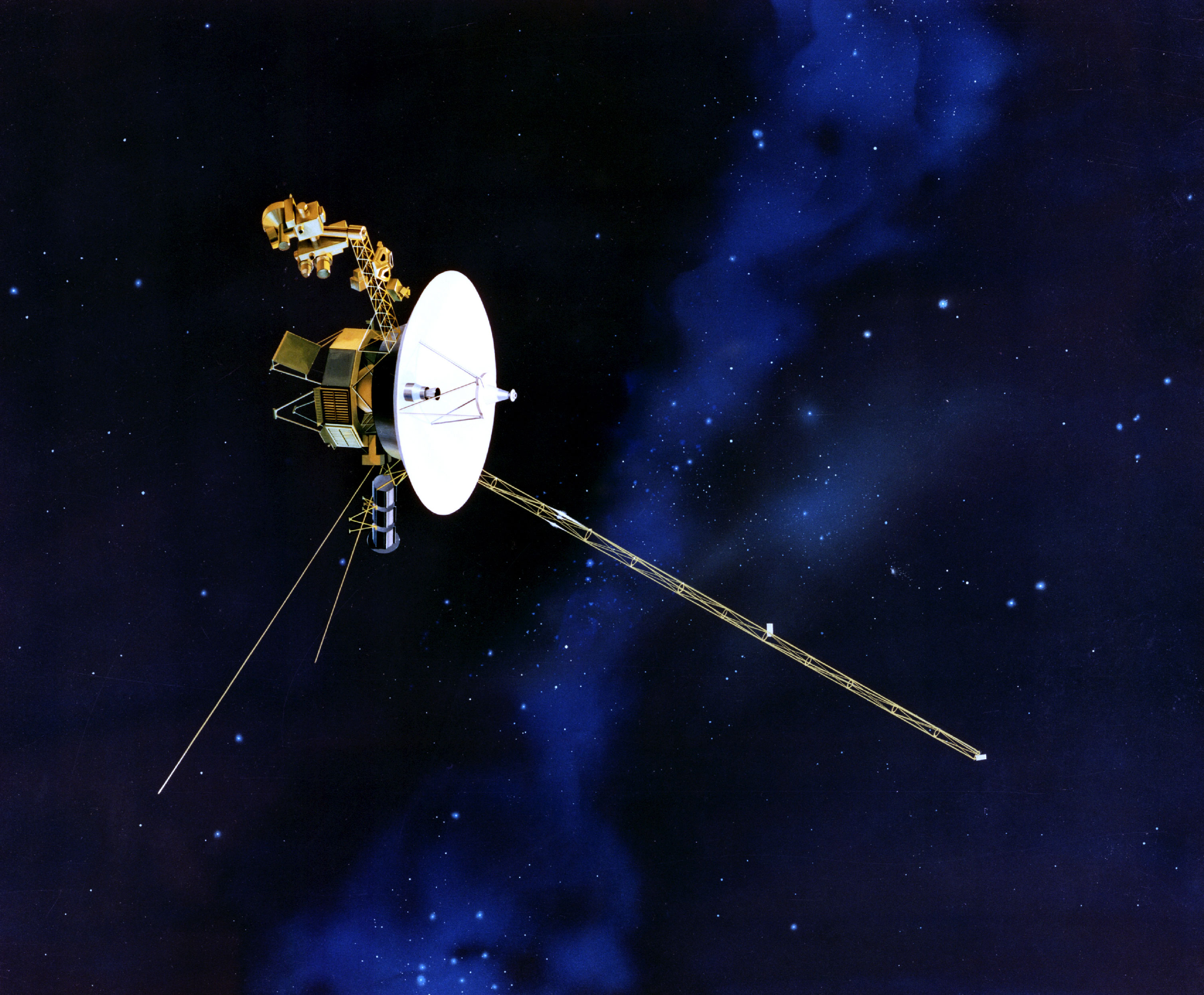 The Voyager probe, now escaping Solar System thanks to gravity assist. Source: NASA/JPL