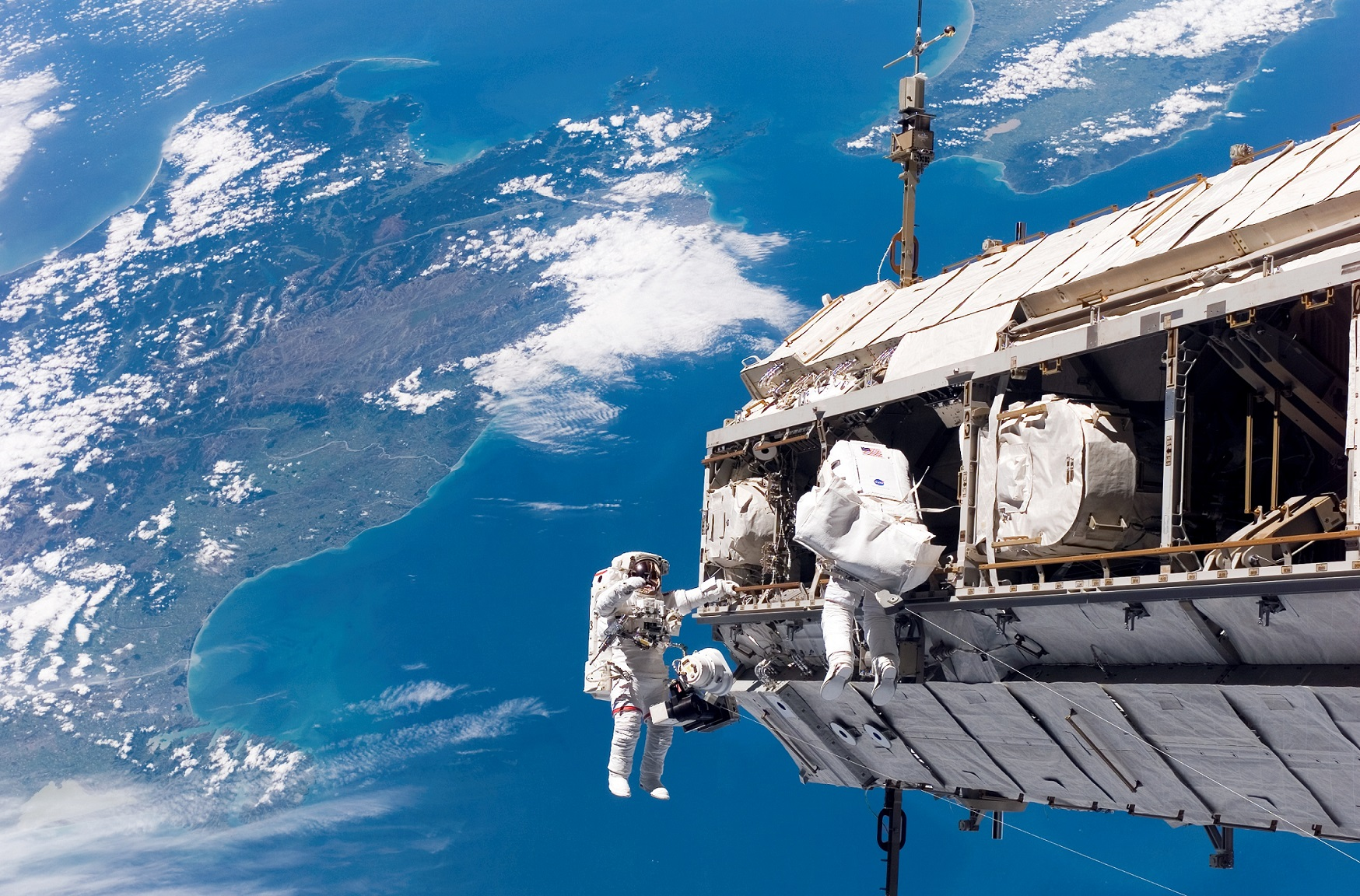 Extravehicular Activity around the ISS – Source: NASA