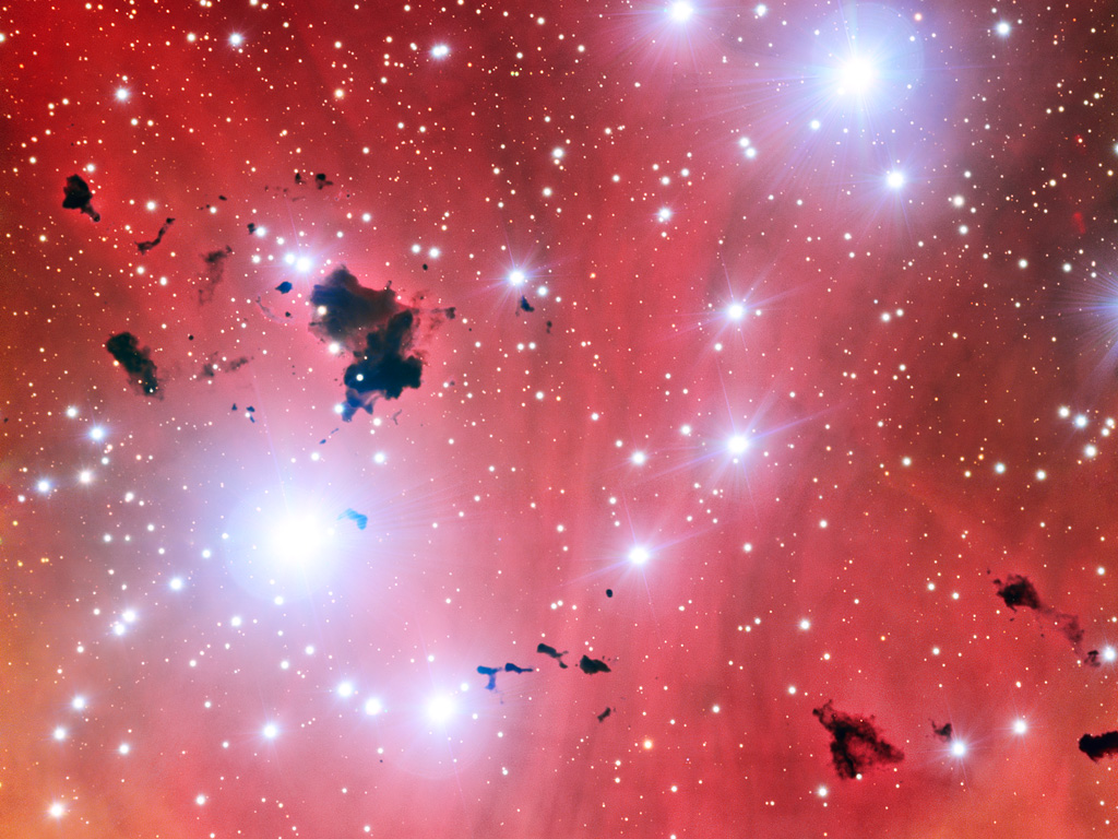 The stellar nursery IC 2944, taken with the Very Large Telescope. ESO.