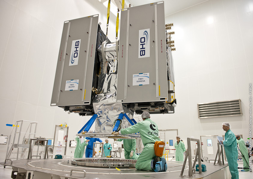 Galileo Satellites 5-6 under integration. Source: ESA