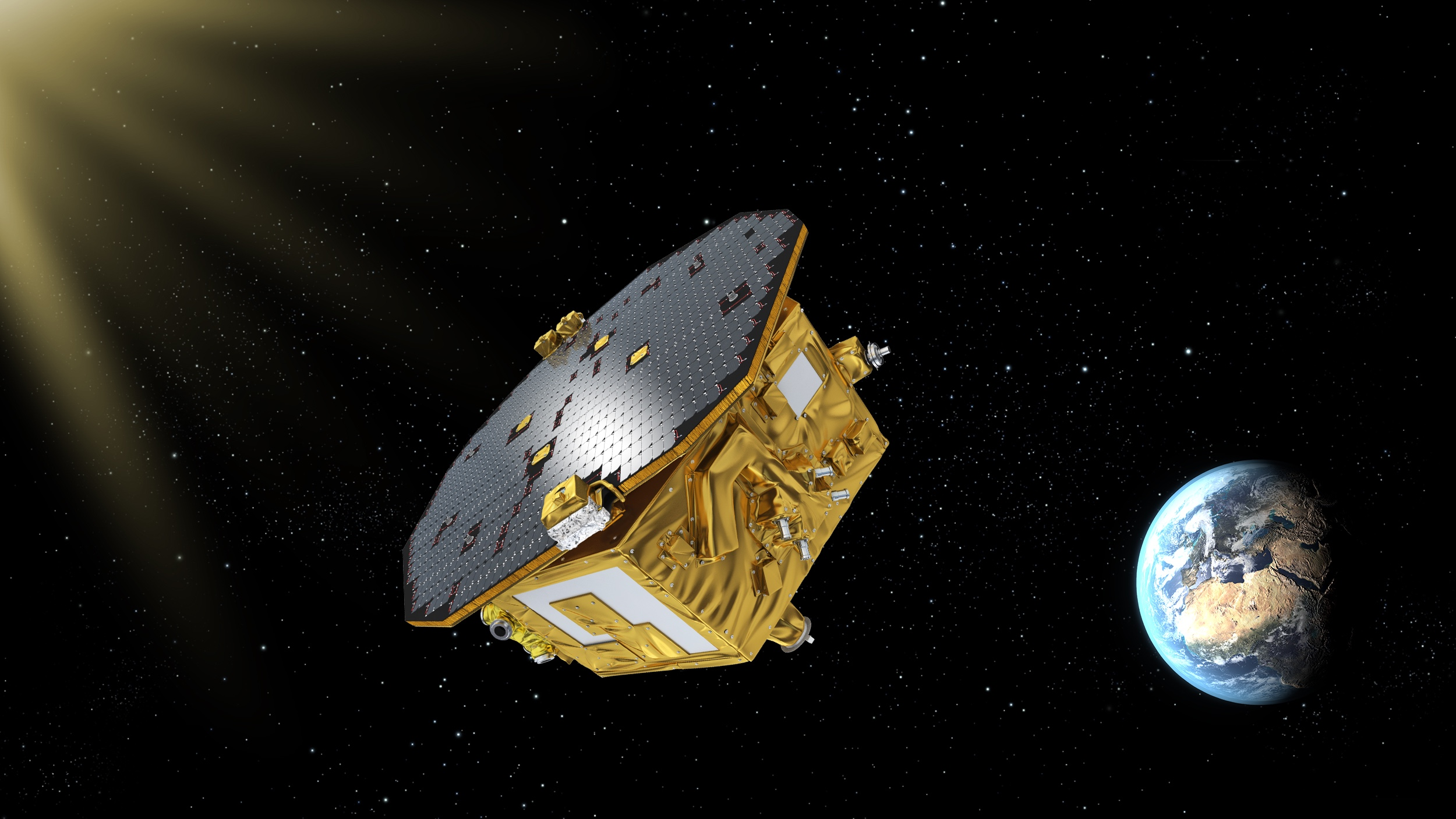 LISA Pathfinder has now arrived at L1. Monday 15 February and Tuesday 16 February, two test masses are released inside it to float freely. ESA–C.Carreau