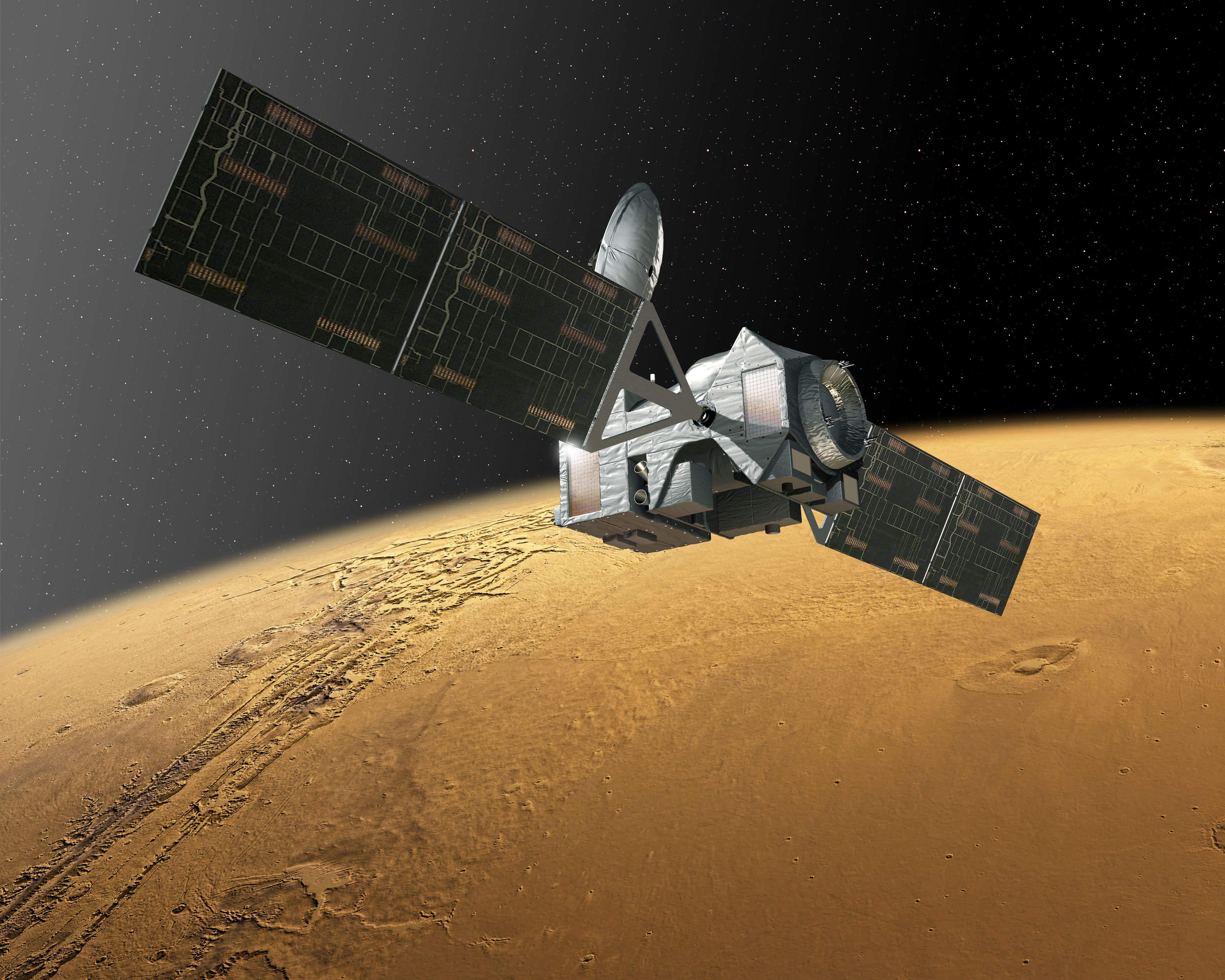 The ExoMars Trace Gas Orbiter (Credit: ESA)