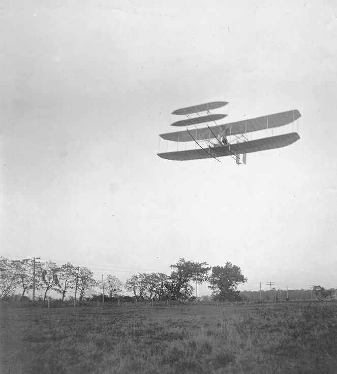 Flyer III demonstration in October 1905. Source: wright-brothers.org
